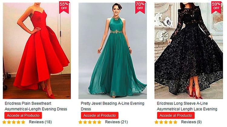 Venta de vestidos de fiesta online baratos
