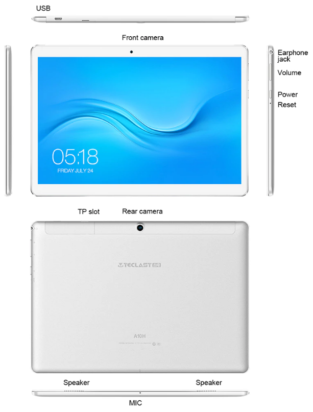 tablet Teclast A10H