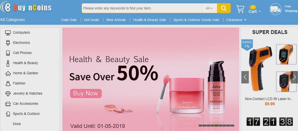 buyincoins tiendas online chinas